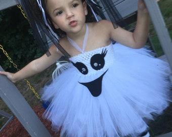 White and Black Ghost Tutu Dress sizes Nb to 24 mo Hallowee Cassie Custom Sewn Pixie Tutu Dress up to 20 long