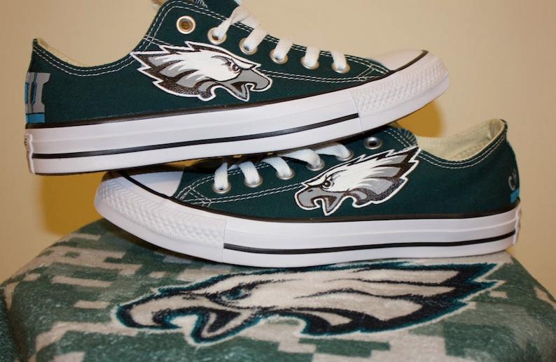 8455c7ce376f Custom Superbowl 52 Philadelphia Eagles Low-Top Chuck Taylor