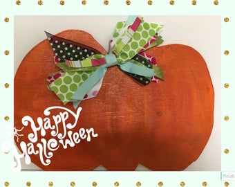 Thanksgiving Pumpkin Door Hanger