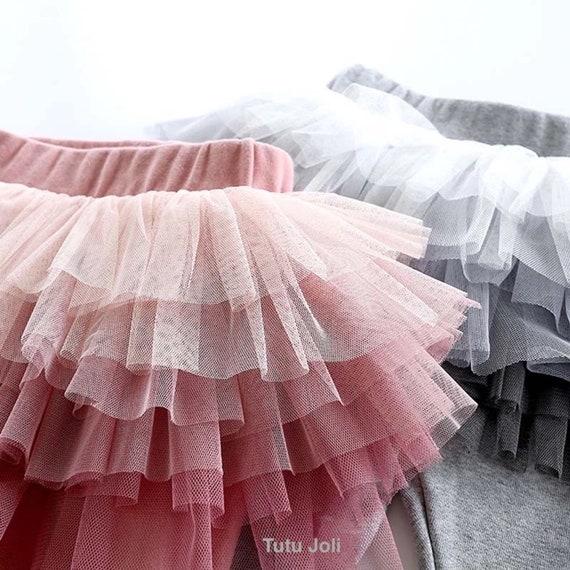 Cotton Ring Leggings Pettiskirt TuTu Pink White Brown