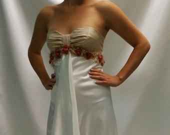 Ivory satin dress
