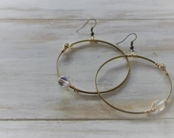 skyward hoop earrings
