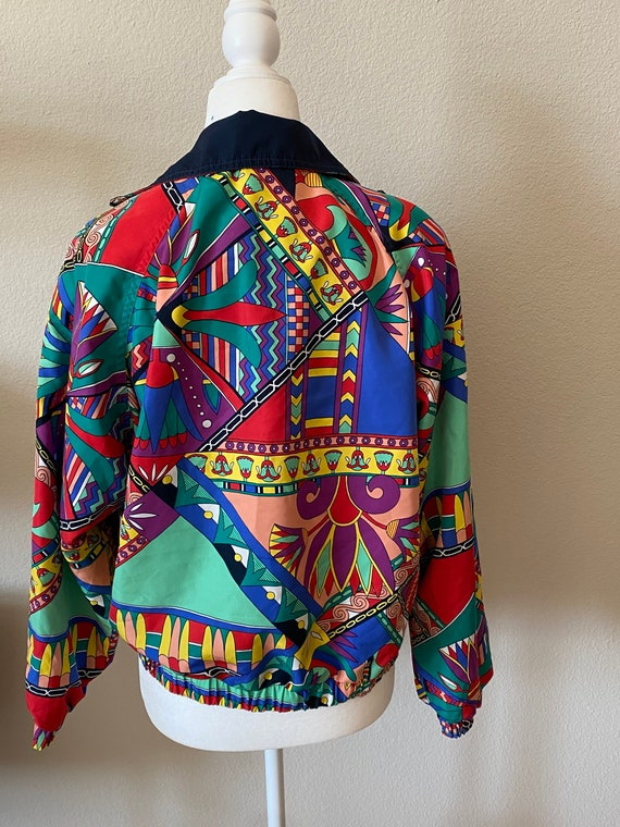 Vintage Reversible Abstract Print Jacket