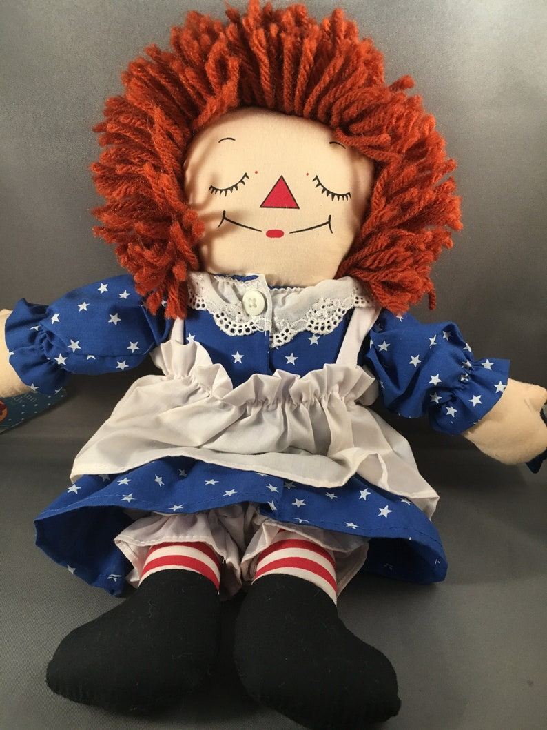 1996 12 Raggedy Andy Awake Asleep Doll