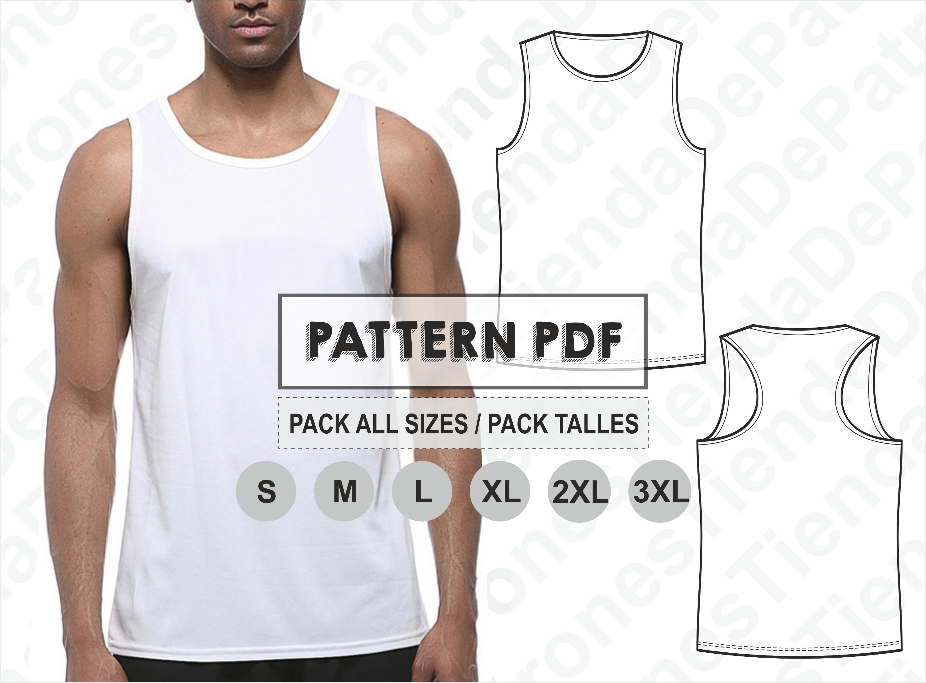 PATTERN Tank Top for Men Sewing Pattern Digital Pattern | Etsy