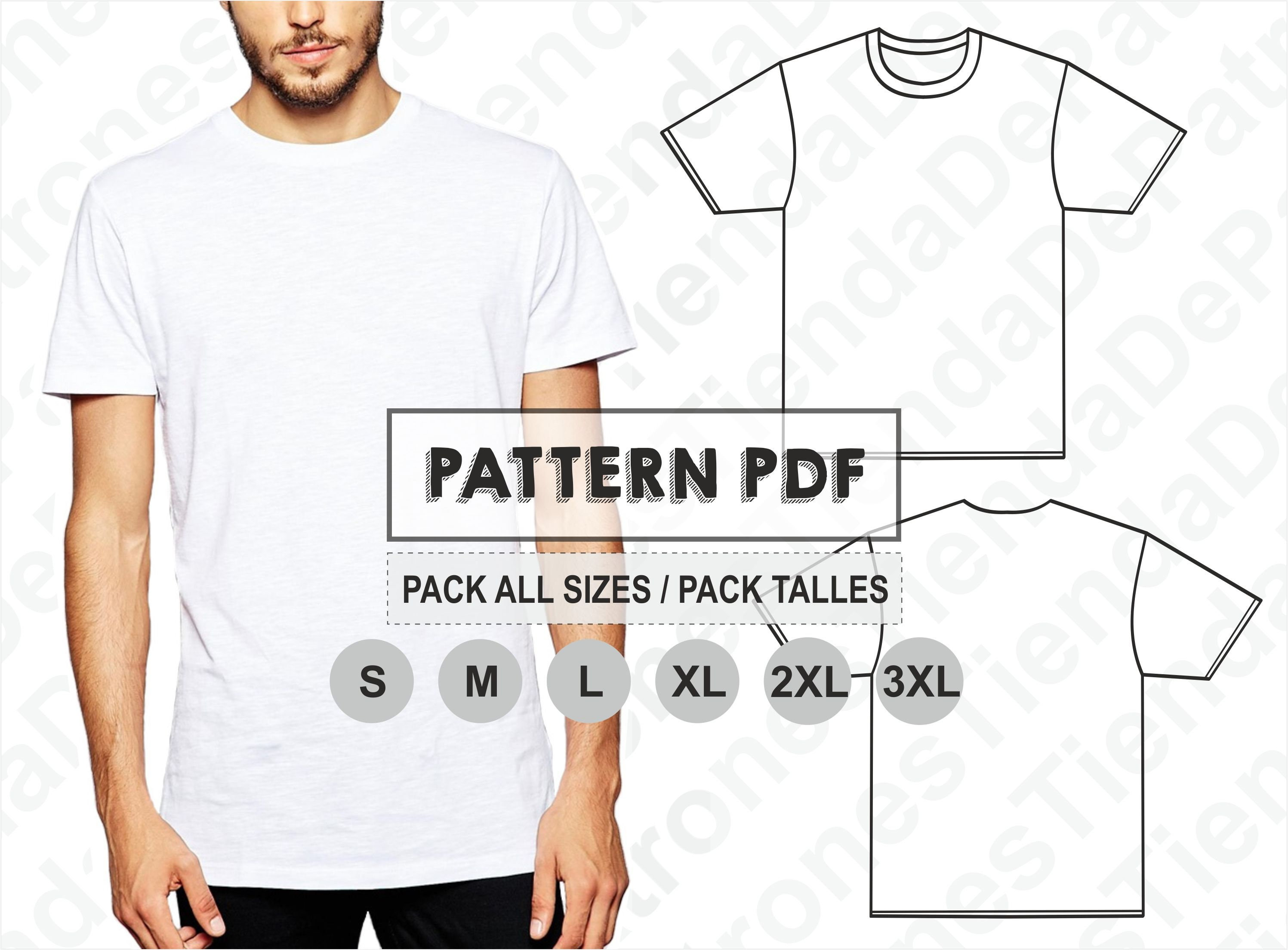 PATTERN T-shirt Men Sewing Pattern Digital Pattern PDF | Etsy