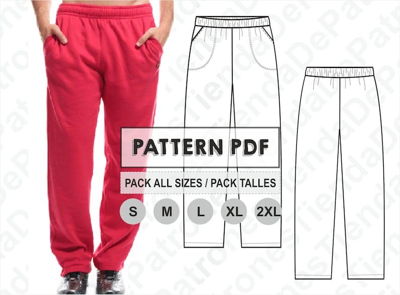 ImprimiblePdfPack Al S Inmediata Todos Pantalon CosturaDigital Los 2xlDescarga HombrePatrón Patron Jogging Talles De ZikTOPuX