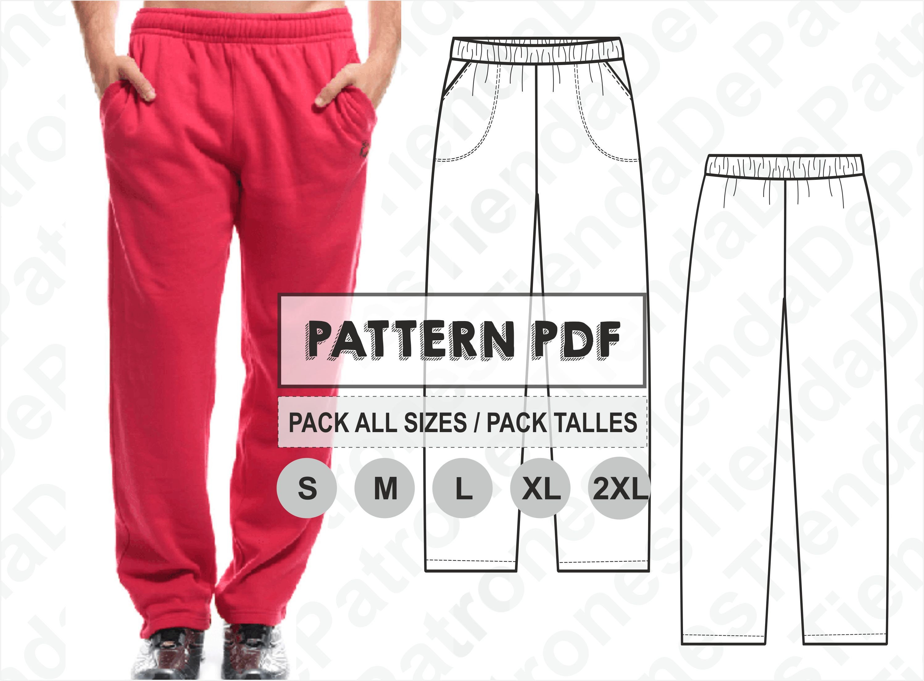 PATTERN Jogging Pants for Men Sewing Pattern Digital | Etsy