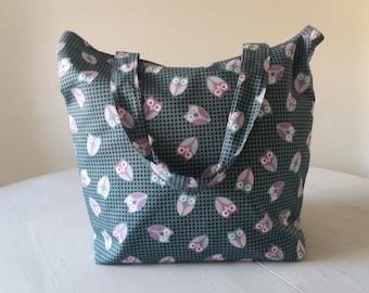 Cotton Owl Bag | Handmade Owl Bag | Owl Print-lined pouch