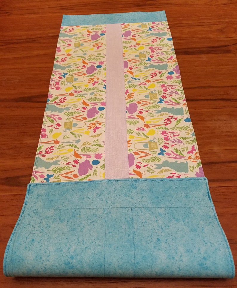 Charming and colorful Easter festive spring runner 14 by 40.5