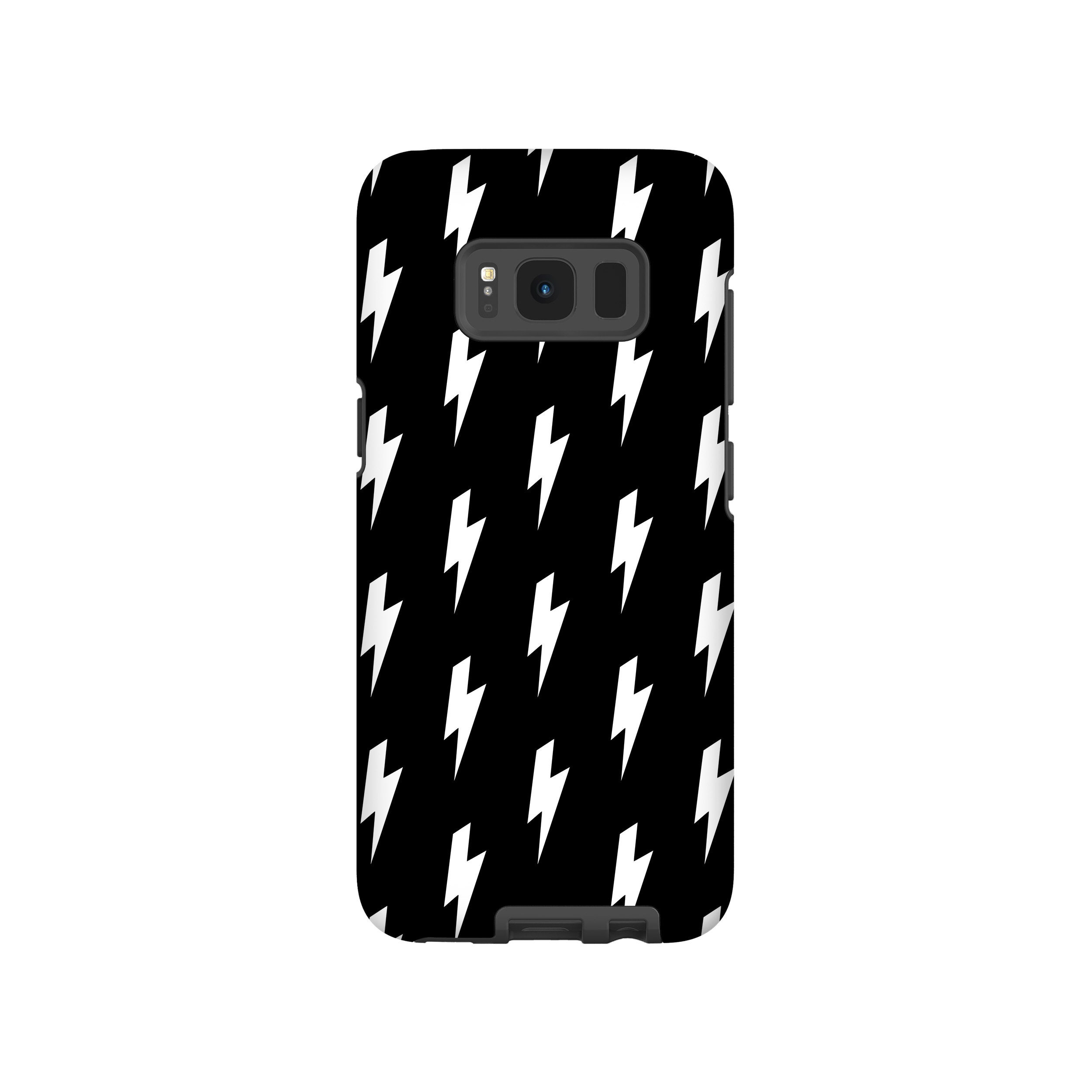check out 126aa 7dfcd Lightning Bolt Phone Case, iPhone 6 7 8 X Case, Galaxy S5 S6 S7 S8 Plus,  Black & White Phone Case, Thunderstorm Pattern, Minimal Mod Pattern