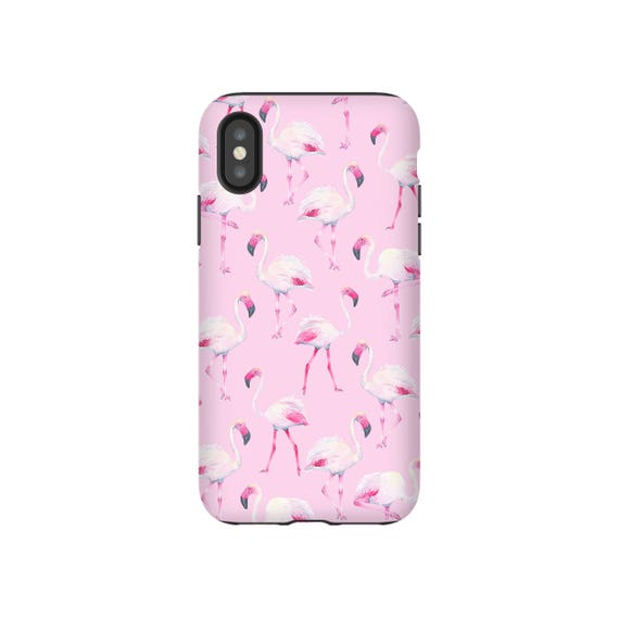 wholesale dealer bfbac 22aac Flamingo Phone Case, Pink Phone Case, Watercolor Girly iPhone 7 8 X Case,  Samsung Galaxy S8 Pastel Phone Case, Tropical Summer, Beach Vibes