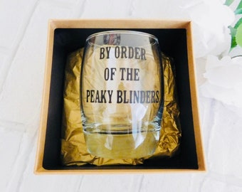 Peaky blinders whiskey tumbler gift - Father's Day