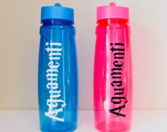 Harry Potter aguamenti water bottle - pink or blue