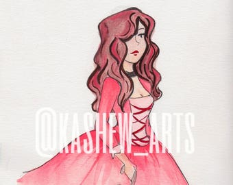 Maria Reynolds Watercolor Illustration Print