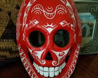 Painted skull mask Halloween Dia De Los Muertos Day of the Dead Sugar Skull Filipino Tribal Tattoo