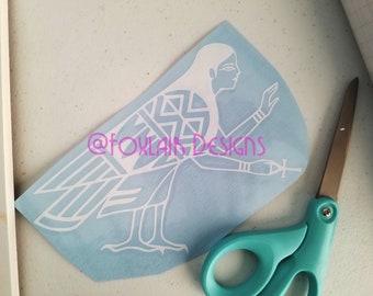 Harpy Ancient Egyptian Ba Soul pagan vinyl decal bumper sticker Egypt Bird Metaphysical Spiritual Spirit Animal Mystical Ankh Egyptology