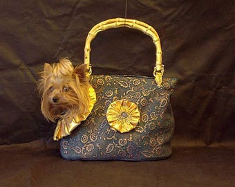Dog Bag Dog Purse Pet Carrier Dog Bags and Totes Dog Carrier Dog Carrier Tote Bucket Bag Handmade Luxury Exclusive