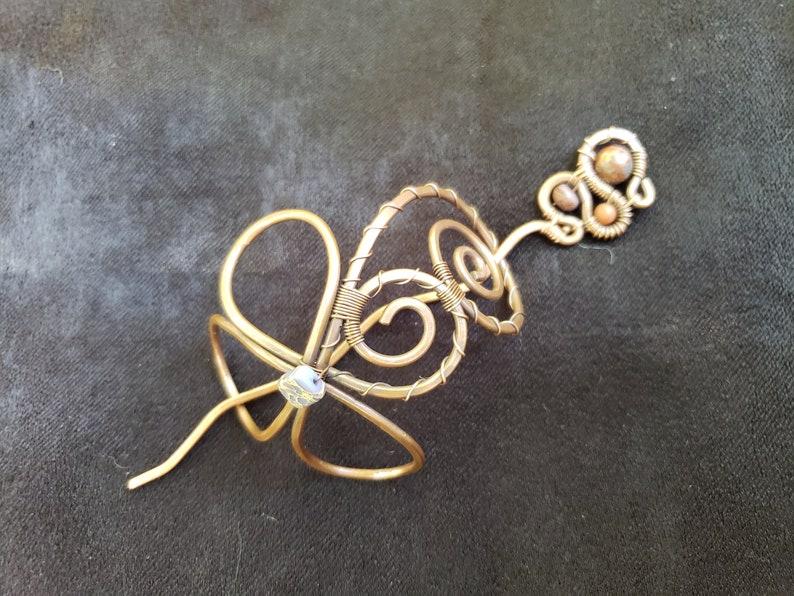 Jasper Celtic Flower Bun Cage with sticks\\ Flower Bun Holder\\ Celtic bun cage /& hair stick\\ bun cage with pin\\ Gemstone bun holder and pins