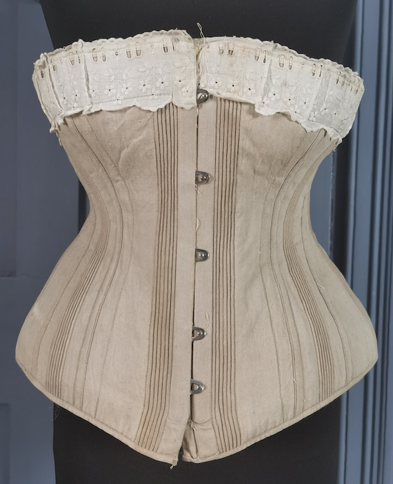 Wearable Victorian Antique 1880s / 1890s Corset
