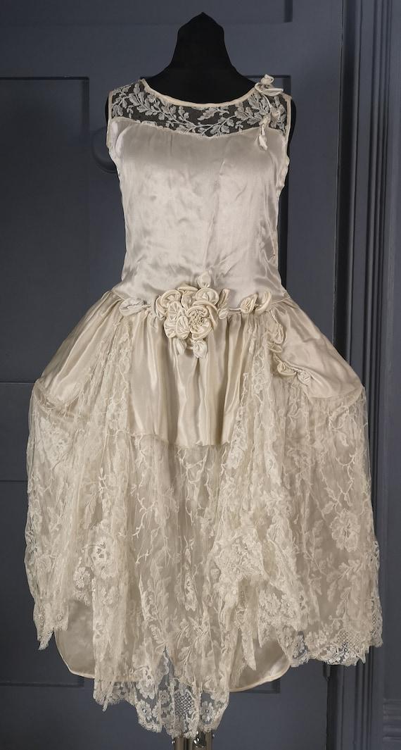 RARE & Exquisite Antique / Vintage 1920s ' Robe de