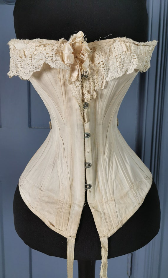 Victorian Antique 1890s ' Dickins & Jones ' Corset
