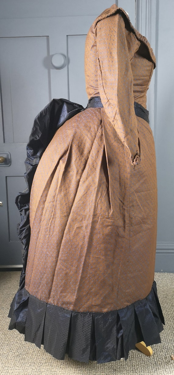 Quirky 1880s Bustle Dress ( Adapted From 1860s ) V
