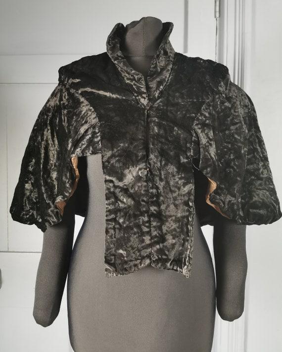 Stylish Vintage 1930s Victorian Style Velvet Eveni