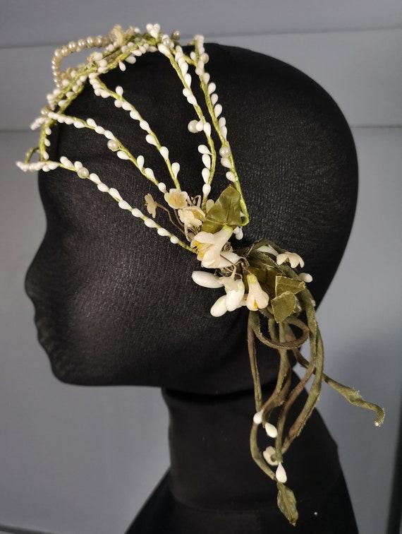 Organic Floral Antique / Vintage 1920s Wedding Hea