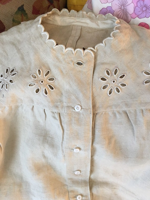 Old Shirt Lin Fabric Lace Antique Lace Shirt Fabri