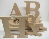 Letter Freestanding - 200mm x 18mm - Times Font - Blank Shape Unpainted Wooden MDF Premium Quality
