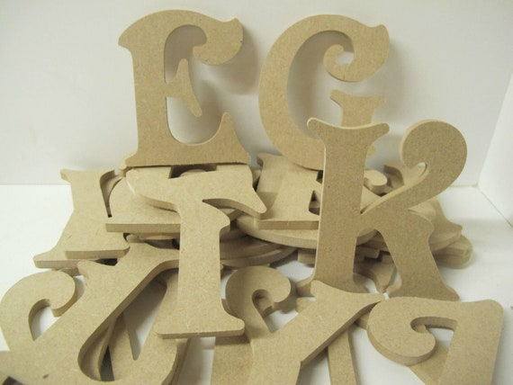 VICTORIAN FONT WOODEN  MDF LETTERS AVAILABLE IN SIZES 2,3,5,7.5,10cm and 15cm