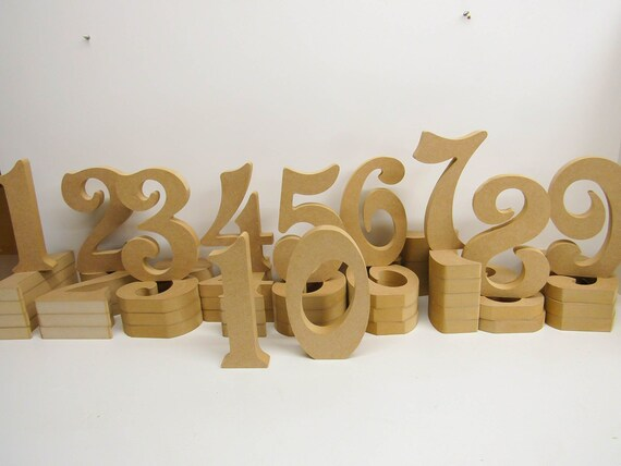 Wooden Numbers Premium Quality 200mm High 18mm Thick Times Font