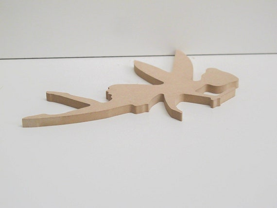 Freestanding Letter with Fairy 200mm Tall 18mm MDF