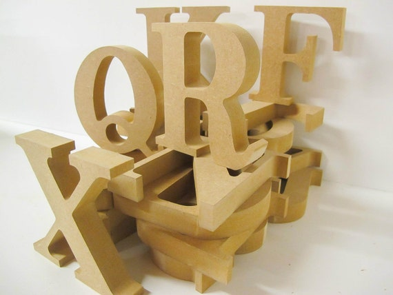 Wooden Letters Premium Quality 155mm High 18mm Thick Victorian Font