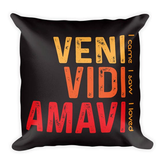 Cool Latin Sayings Romantic Pillow Gift Cute Latin Quote Etsy