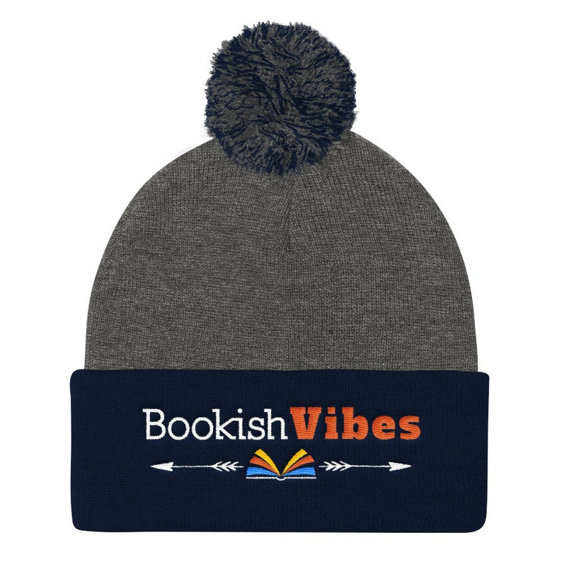 f9c4ebbc36c Bookish Good Vibes Book Lover Knit Beanie Book Lovers