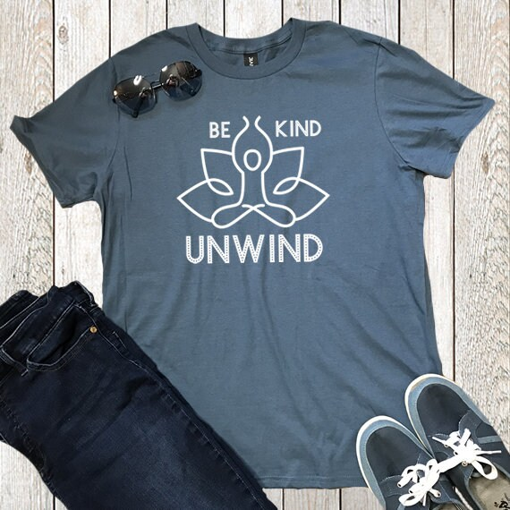 03e183ca Be Kind Unwind Funny Meditation Best Yoga Gifts Holistic | Etsy