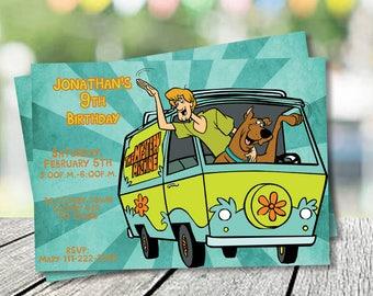 Scooby doo invites Etsy