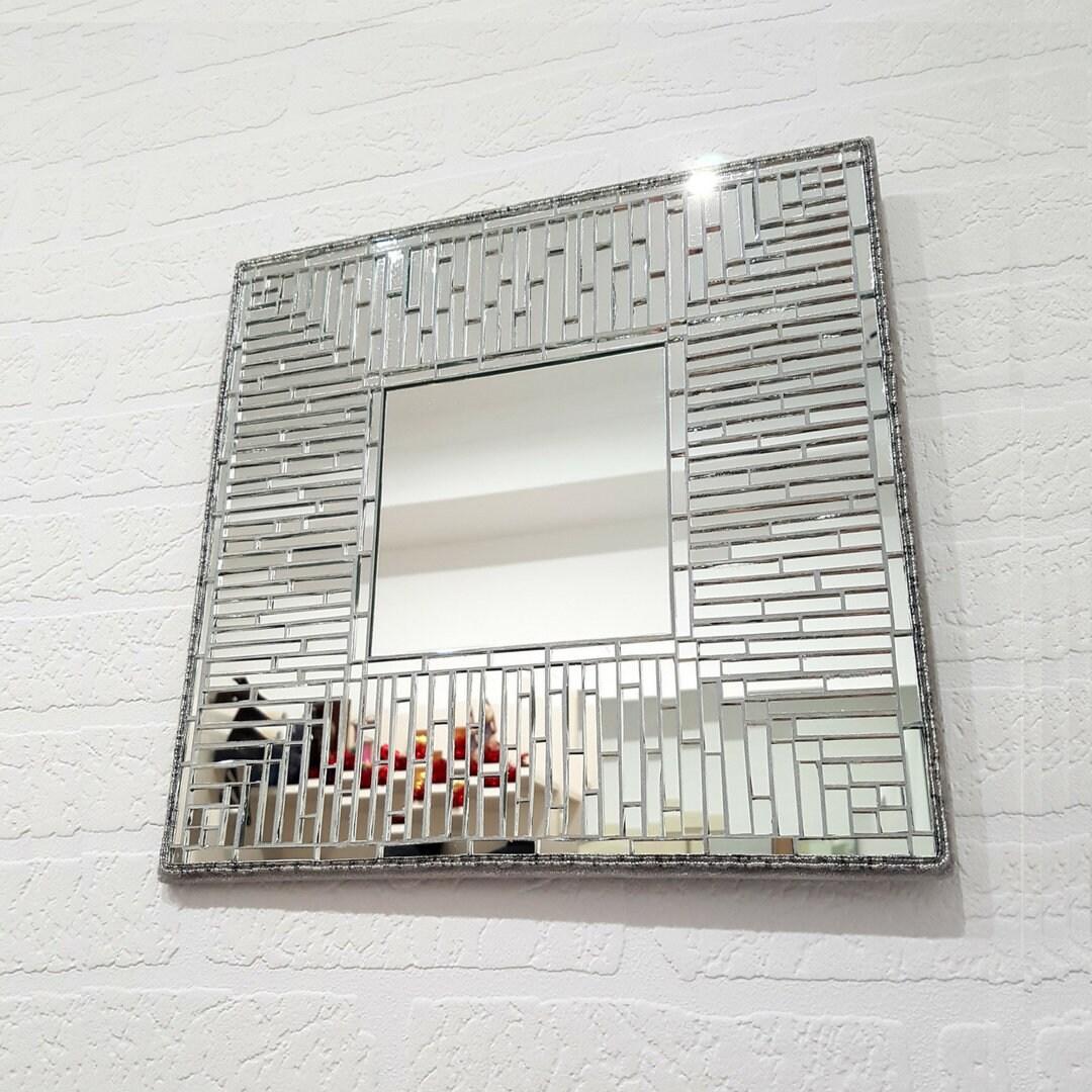 Dekorative Platz Spiegel 14/ Silber Wandspiegel / auf   Etsy