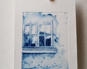 """Drypoint """"Window"""""""