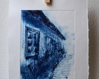 """Window 2"" drypoint etching"