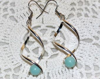 Earrings gemstones spirals