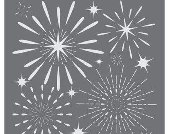 Fireworks Display Prettier Plaques™ Background by Julia Usher