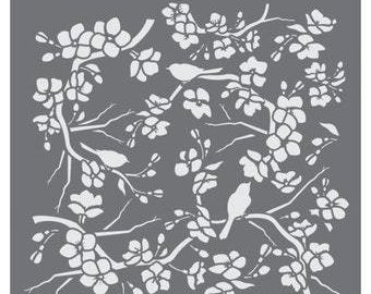 Birds and Blossoms Prettier™ Plaques Background by Julia Usher