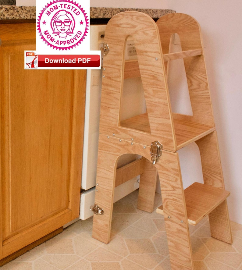 Miraculous Learning Tower Plan Dual Purpose Toddler Tower Desk Combo Plan Montessori Kitchen Helper Desk Combo Plan Pdf Plan Wood Plan Kid Stool Plan Caraccident5 Cool Chair Designs And Ideas Caraccident5Info