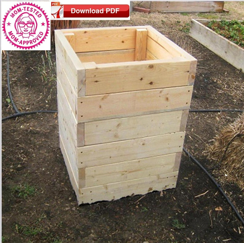 Raised Planter Box Planpotato Planter Box Planorganic Raised Wood Planter Plangarden Box Planwood Planter Plangarden Planter Planpdf