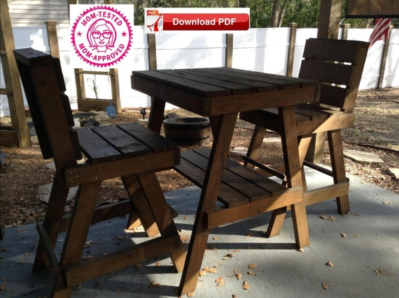 Groovy Patio Chairs And Table Plans Porch Table And Chair Plans Outdoor Furniture Plans Outdoor Chair Table Plan Pdf Pattern Pdf Plan Wood Pattern Ncnpc Chair Design For Home Ncnpcorg