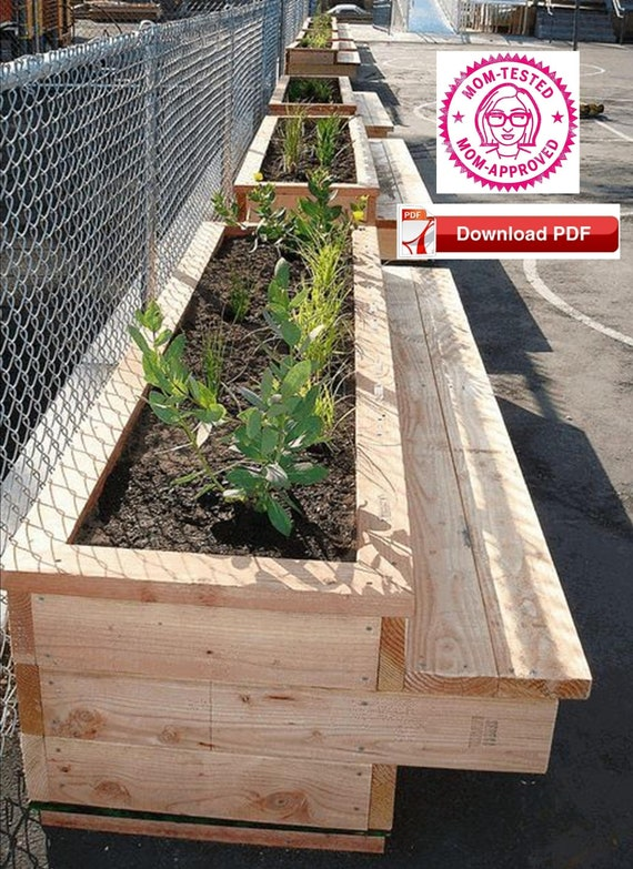 Brilliant Bench Planter Plan Planter Plan Garden Bench Plan Wood Bench Plan Raised Planter Plan Raised Wood Planter Plan Bench Plan Pdf Plan Wood Plan Caraccident5 Cool Chair Designs And Ideas Caraccident5Info