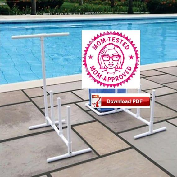 Pool Noodle Storage Stand Plan Pvc Pool Noodle Rack Plan Pool Etsy